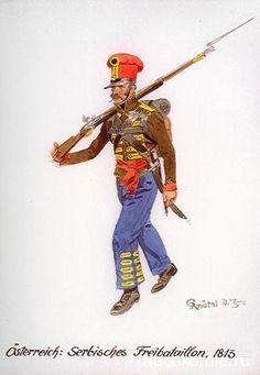 Austria, Serbian Freibataillon 1813