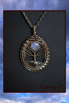 Copper and Moonstone Tree of Life Pendant. Beautiful! #ad #moonstone #copperjewelry #treeoflife