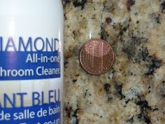 Norwex Blue Diamond All In One Bathroom Cleaner easily removes the tarnish from this penny.  ChristieSteinbock.Norwex.biz