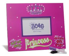 """Three Cheers 4 Girls Birthday Princess Autograph Photo Frame by Three Cheers 4 Girls. $17.99. Wood autograph frame. Holds 4"""" x 6"""" photo. Includes 2 permanent markers. Birthday Princess Autograph Photo Frame-This 11-inch by 9-inch wood autograph frame holds a 4-inch by 6-inch photo. Includes 2 permanent markers. It has a bright fuchsia background, a crown, as well as -inchBirthday Princess-All Eyes on Me-inch. Great for parties and sleep-overs. Have your friends sign..."""