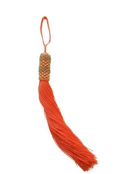 Hand Beaded Tassel Coral - ZINK Everyday