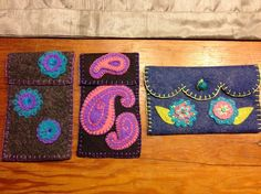 Felted wool applique.