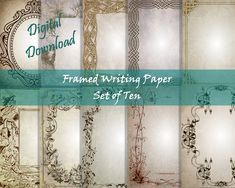 Stationery Paper, Writing Paper, Your Image, Antiques, Digital, Frame, Printer, Fox, Printables