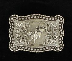 - id rather earn my of course but would be a good memorial buckle.  Rectangle - Rope Edge - Bull Rider