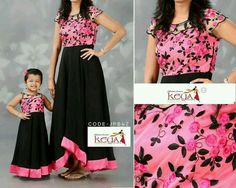 Mom Daughter Matching Dresses, Mom And Baby Dresses, Dresses Kids Girl, Kids Blouse Designs, Mother Daughter Fashion, Long Dress Design, Kids Gown, Kids Lehenga, Long Gown Dress