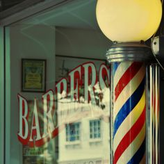 I don't see too many barbershops around anymore and I miss seeing the red, white, and blue poles turning slowly around. In the small town I grew up in there was a place called Roger's Barbershop. Well, I don't know why, but my Mom had my first haircut done there...lol. She saved my hair in an envelope and it doesn't look like a lot, but a barbershop for a girl?!? Mom!