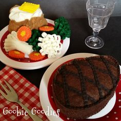 Felt Food Steak Dinner for Pretend Play by GoobieGoodies on Etsy