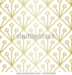 Luxury Geometric Pattern Seamless Vector Lines Stock Vector (Royalty Free) 1255142302 Golden Pattern, Geometric Lines, Background Patterns, Royalty Free Stock Photos, Graphic Design, Luxury, Visual Communication