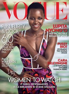 Lupita on the cover of American Vogue