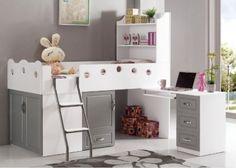 Halfhoogslaper met kastjes en bureau, model Boo-Boo | Bobo | Halfhoogslapers en hoogslapers