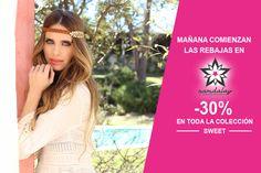 ¡¡Mañana comienzan las rebajas en Namdalay!!  Es el momento de conseguir a precios irresistibles tus complementos favoritos de la colección Sweet. Diademas, pulseras, sombreros... ¡Todo con un 30% de descuento! Ya sabes, a partir de mañana 1 de julio, no te quedes con las ganas...¡aprovecha la oportunidad!