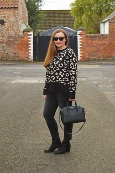 5cb0b4d0932 Zara Leopard Print Jumper Outfit