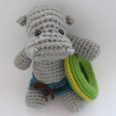 Hippo, the Swimmer - $4.00 by Justyna Kacprzak of Cute and Kaboodle