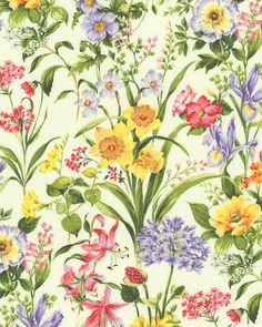 Botanical Society - Spring Floral Studies - Quilt Fabrics from www.eQuilter.com
