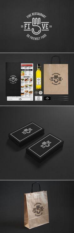 Cool Brand Identity Design. Five Restaurant. #branding #brandidentity [http://www.pinterest.com/alfredchong/]