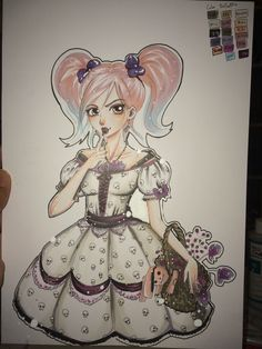 Drew very long time ago. Colored yesterday :) with copic colors ❤️