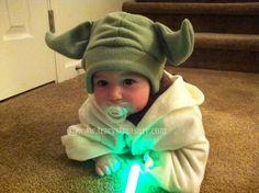 DIY baby/kids yoda hat w/ ear flaps -  Tutorial and Printable Pattern!