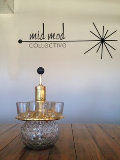 Vintage liquor dispenser. Available now at Mid Mod Collective. Email midmodcollective@gmail.com for more info. SOLD!