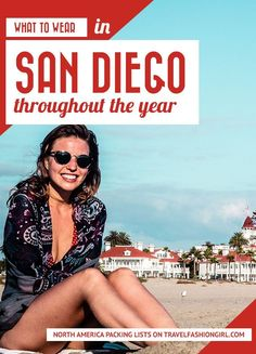 San Diego has the most glorious climate. Most people will find it comfortable no matter when they visit. Keep reading to find out what to wear in San Diego! - Travel San Diego - Ideas of Travel San Diego Beach Vacation Packing List, San Diego Vacation, San Diego Travel, San Diego Beach, Vacation Outfits, Travel Outfits, Travel Wardrobe, Vacation Destinations, Vacations