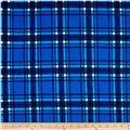 Hatchi Lightweight Sweater Knit Ruler Margin Plaids Cobalt