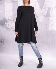Plus size loose tunic / maternity top / tunic dress / by urbanmood, $52.00. Another great neckline by this company.