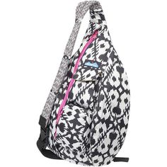 Kavu Rope Sling Purse ($50) ❤ liked on Polyvore featuring bags, rope bag, kavu, rope sling bags, travel sling bag and white bags