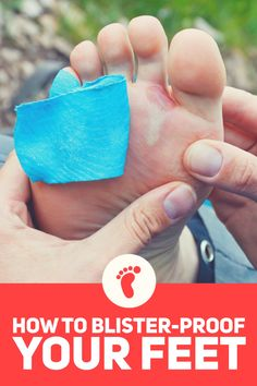 How to prevent blisters on your next hike or backpacking trip. #hiking #backpacking #blisters #survivalskills #camping
