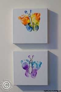 butterfly feet prints � super cute!