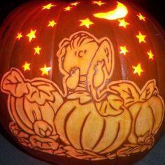 Peanuts Great Pumpkin Carved Pumpkin