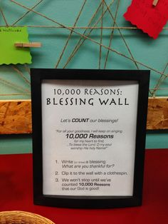 This Wall of Blessing is a wonderful way to decorate your room! It would be great in a children's church or youth room as well. It will show your kids how much God blesses them as you all fill it up! Sunday School Rooms, Sunday School Crafts, Prayer Wall, Prayer Room, Prayer Board, Object Lessons, Bible Lessons, Youth Group Rooms, Youth Group Lessons