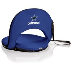 The Dallas Cowboys Oniva Seat is perfect for increasing the comfort of stadium seating, bleachers or about any where else you need portable seating and cowboys spirit!  The Dallas Oniva Seat even has six reclining positions and an adjustable carry strap.