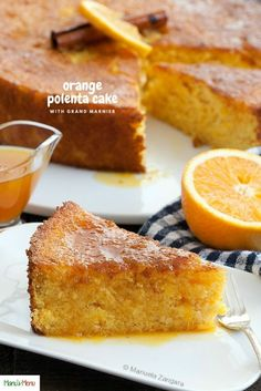Paleo meals 846113848730715272 - Orange Polenta Cake – a moist polenta and almond meal cake made with oranges & Grand Marnier. It is dairy-free and gluten-free and simply delicious! Gluten Free Cakes, Gluten Free Baking, Gluten Free Desserts, Just Desserts, Almond Recipes, Baking Recipes, Cake Recipes, Dessert Recipes, Cornmeal Recipes