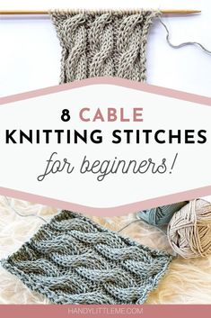 Cable knitting patterns - Knit up some cable swatches and develop your knitting skills. Choose from basic designs to more complicated cable stitch patterns. Cable Knitting Patterns, Knitting Stitches, Knitting Charts, Easy Knitting, Knitting Designs, Knitting Projects, Knitting Tutorials, Knitting Squares, Knitting Help