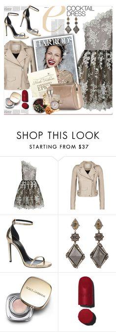"""Cocktail Dresses"" by sweta-gupta ❤ liked on Polyvore featuring Alice + Olivia, IRO, Yves Saint Laurent, Sevan Biçakçi, Dolce&Gabbana, Chanel, Jimmy Choo and cocktaildress"