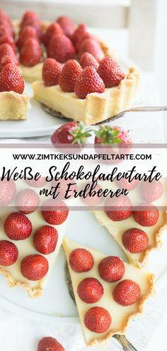 wundervoller Sommerkuchen - ganz einfaches Rezept, das fast ohne Backen auskommt: leckere Tarte mit weißer Schokolade, Mascarpone und frischen Erdbeeren. Super cremig, super lecker! Geht natürlich auch mit anderen Beeren! Ein ganz toller Sommergenuss! White chocolate tart with strawberries #tarte #weißeschokolade #erdbeeren #rezept #sommer #einfach