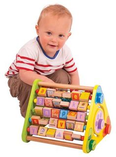 Buy Triangular Activity Centre from Mulberry Bush, an online toyshop for traditional and wooden children's toys, gifts and games