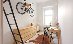 What can you do in an apartment with 140 square feet of floor space? Well, if you're Szymon Hanczar and your apartment has ceilings, you start thinking about how . Read moreMinimalist Apartment Shows How to Live Comfortably in Minimal Living, Minimal Home, Studio Apartment, Apartment Design, Apartment Therapy, Urban Apartment, Small Living, Living Spaces, Living Area