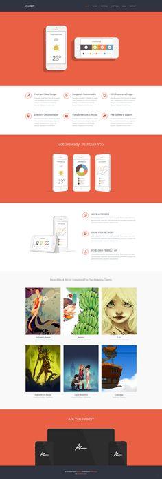 Chariot - Professional Responsive Portfolio Theme by Zizaza - design ocean , via Behance