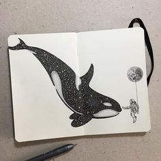 Taming the stars ✨✨ #whale #astronaut