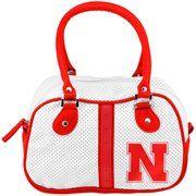 Nebraska Cornhuskers Ladies Ethel Bowler Purse - White