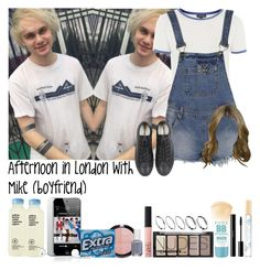 """Afternoon in London with Mike (boyfriend)"" by fxrever-isnt-for-everyone ❤ liked on Polyvore featuring Forever 21, Topshop, Boohoo, Converse, H&M, Marc Jacobs, shu uemura, NARS Cosmetics, Essie and ASOS"