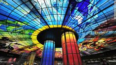 BBC - Culture - World's most beautiful Metro stations -Best for natural light: Formosa Boulevard, Kaohsiung U Bahn Station, Train Station, Milk Way Galaxy, Taiwan, Ticket, Metro Station, Stained Glass, Istanbul, Most Beautiful