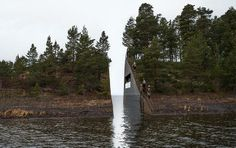 Crazy beautiful idea of a memorial site for the massacre at #utøya