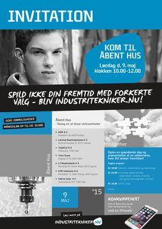 Invitationsplakat vedr. industriteknikeruddannelsen.
