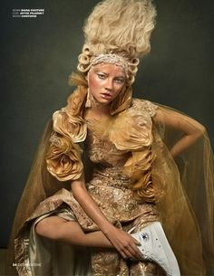 Alanna Whittaker Channels Marie-Antoinette In F&G Images For Design SCENE Jan/feb 2017 — Anne of Carversville French Fashion, New Fashion, Boho Fashion, Fashion Brands, Fashion Beauty, Indigo Children, Vogue China, Vogue India, Beauty Shoot