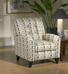 Serta Upholstery by Hughes, Recliner Chair. Easy Push Back Recline. Fabric: Flair Spa