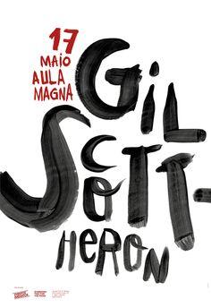 Gil Scott Heron in Aula Magna Poster by Designer João Guedes