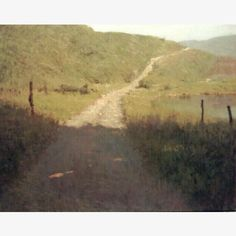 Landscape by Donald Jurney. This is a picture of so many memories in my mind of dirt roads in the desert.
