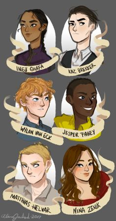 """limevines: """"for how many times i have read these books you'd think i'd have drawn more of these kids by now ¯\_(ツ)_/¯ but for real thank you leigh bardugo for a) fantastic characters and b) fantastic world building and c) fantastic story and d) being..."""
