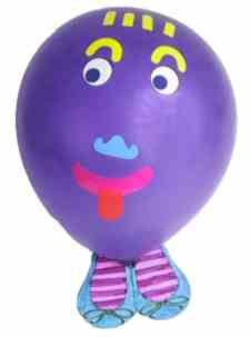 Make balloon people.  Make a balloon family.  Make your own universe!    http://www.creativekidsathome.com/activities/activity_141.shtml